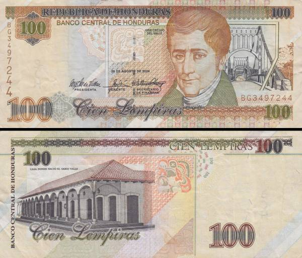 100 Lempiras Honduras 2004, P77g