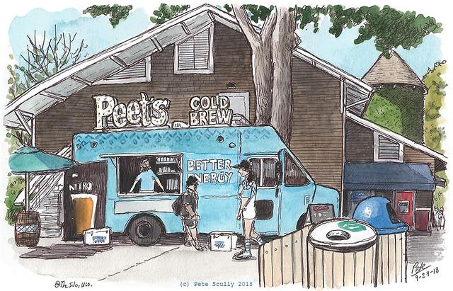 peets coffee truck, uc davis