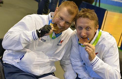 Fabien Lamirault, champion du monde & Stéphane Molliens, médaillé d'argent