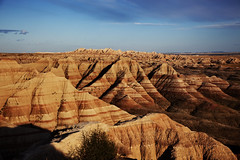 Badlands National Park, in southwest South Dakota, United States. Original image from Carol M. Highsmith's America, Library of Congress collection. Digitally enhanced by rawpixel.