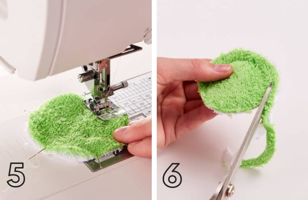 Frog Wash Cloth Steps 5 6