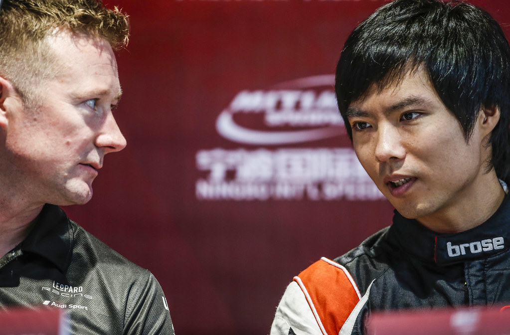 SHEDDEN Gordon, (gbr), Audi RS3 LMS TCR team Audi Sport Leopard Lukoil, portrait, QING HUA Ma (chn), Honda Civic TCR team Boutsen Ginion Racing, portrait during the 2018 FIA WTCR World Touring Car cup of China, at Ningbo  from September 28 to 30 - Photo Jean Michel Le Meur / DPPI