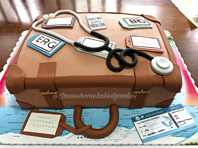 Luggage Cake by Irene Bautista - Dalupan of Irene's Home-baked Goodies