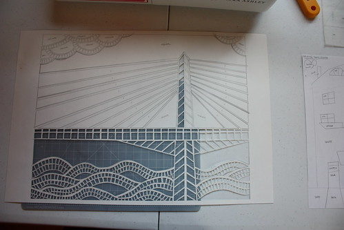 Auction Project: Tilikum Bridge Collage/Papercut
