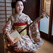 Maiko Umechie of the Umeno Okiya in Kamishichiken