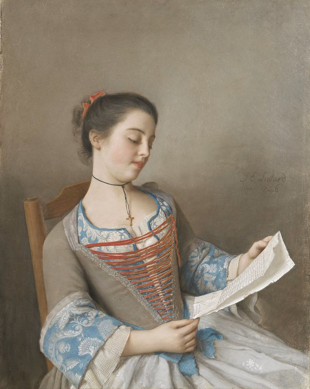 Jean-Etienne Liotard - The Artist's Niece, Marianne Lavergne, Known as 'La Liseuse' (1746)
