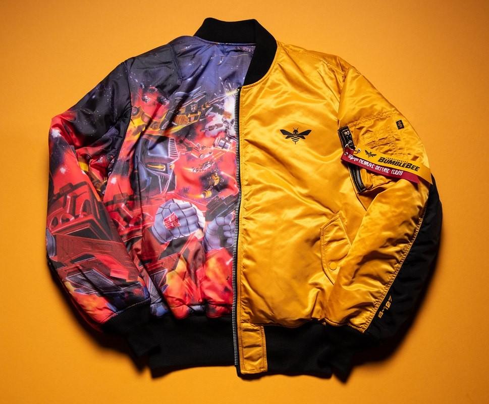有著大黃蜂的經典元素與博派、狂派的熱血大戰!! Hasbro × Alpha Industries《變形金剛》主題 MA-1 飛行外套 Transformers MA-1 Flight Jacket