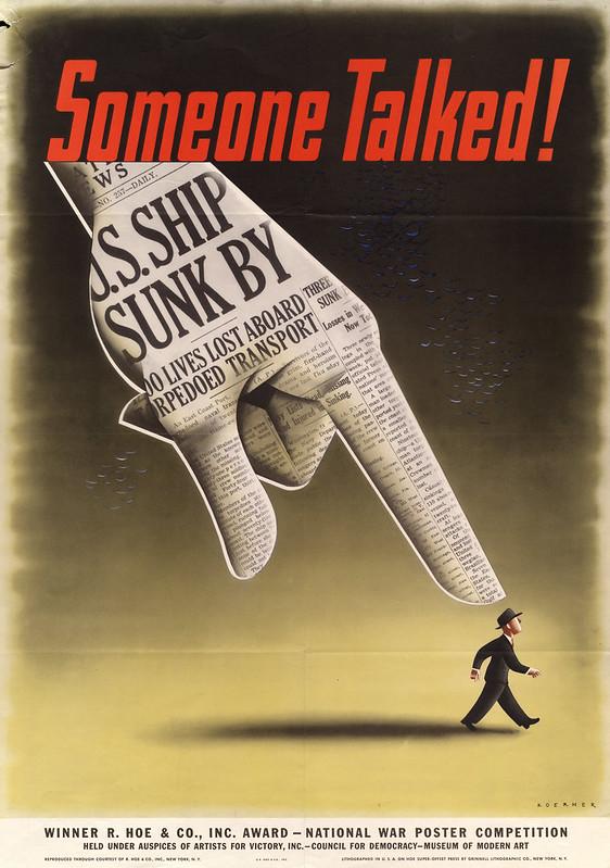 Someone talked! - Henry Koerner (1915-1991)