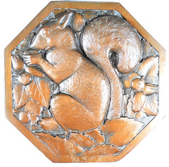 Squirrel Design Copper Galvano obverse