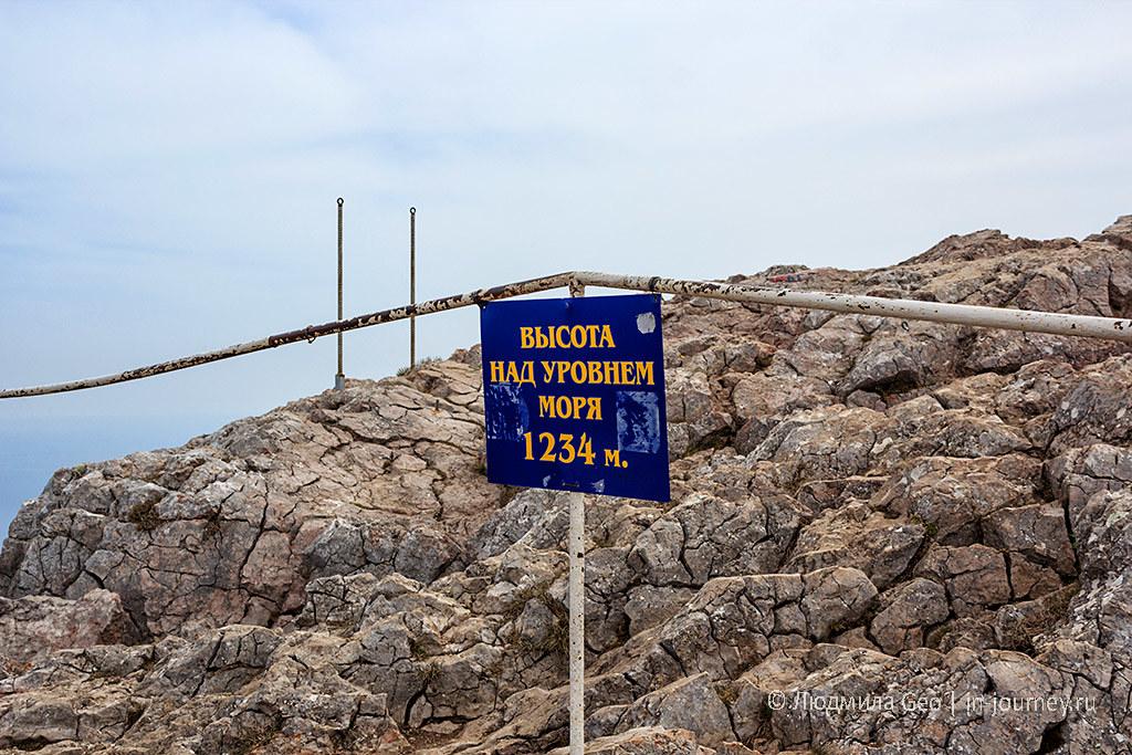 Ай-Петри 1234 метра в Крыму