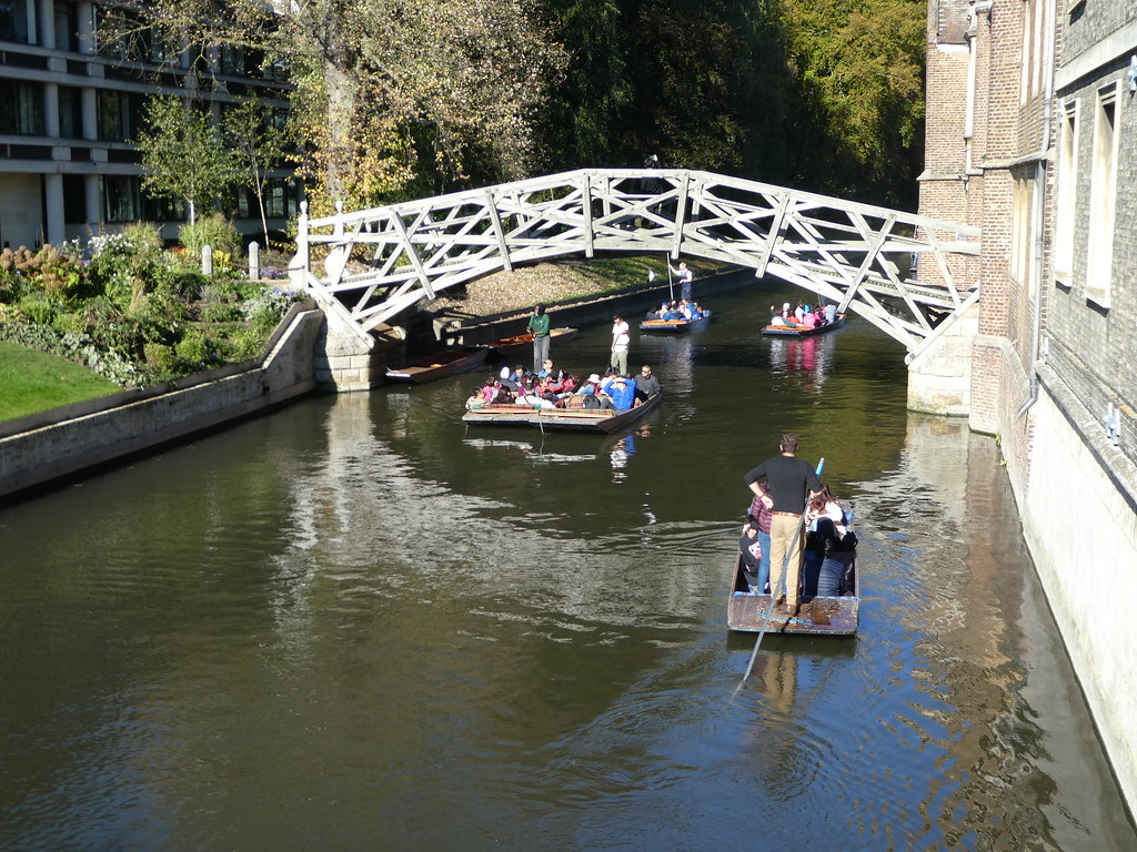 Punting by Silver Street Bridge, Cambridge