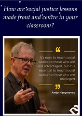"""Educational Postcard: """"How are social justice lessons made front and centre in your classroom?"""""""