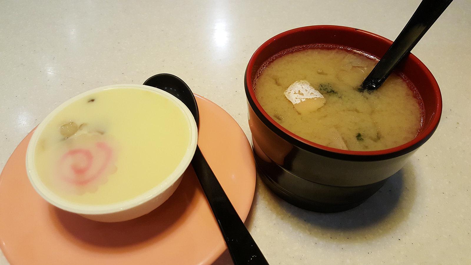 爭鮮 茶碗蒸跟味噌湯