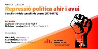 Xerrada-col·loqui Repressió política ahir i avui 12102018