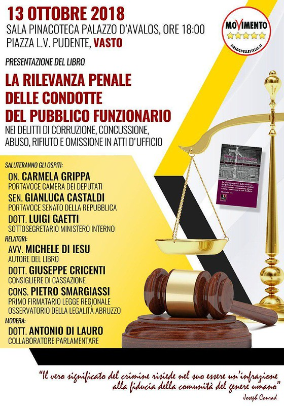 locandina evento avvocato de iesu