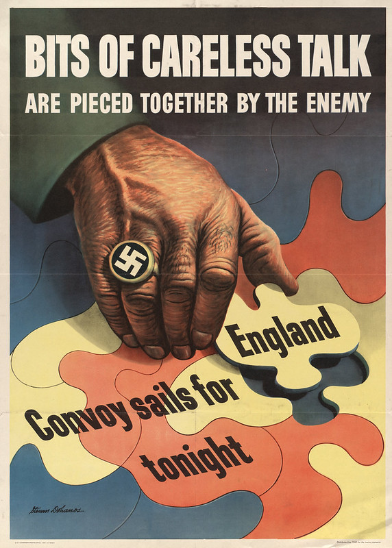 Bits of careless talk - are pieced together by the enemy (1943) - Stevan Dohanos (1907-1994)