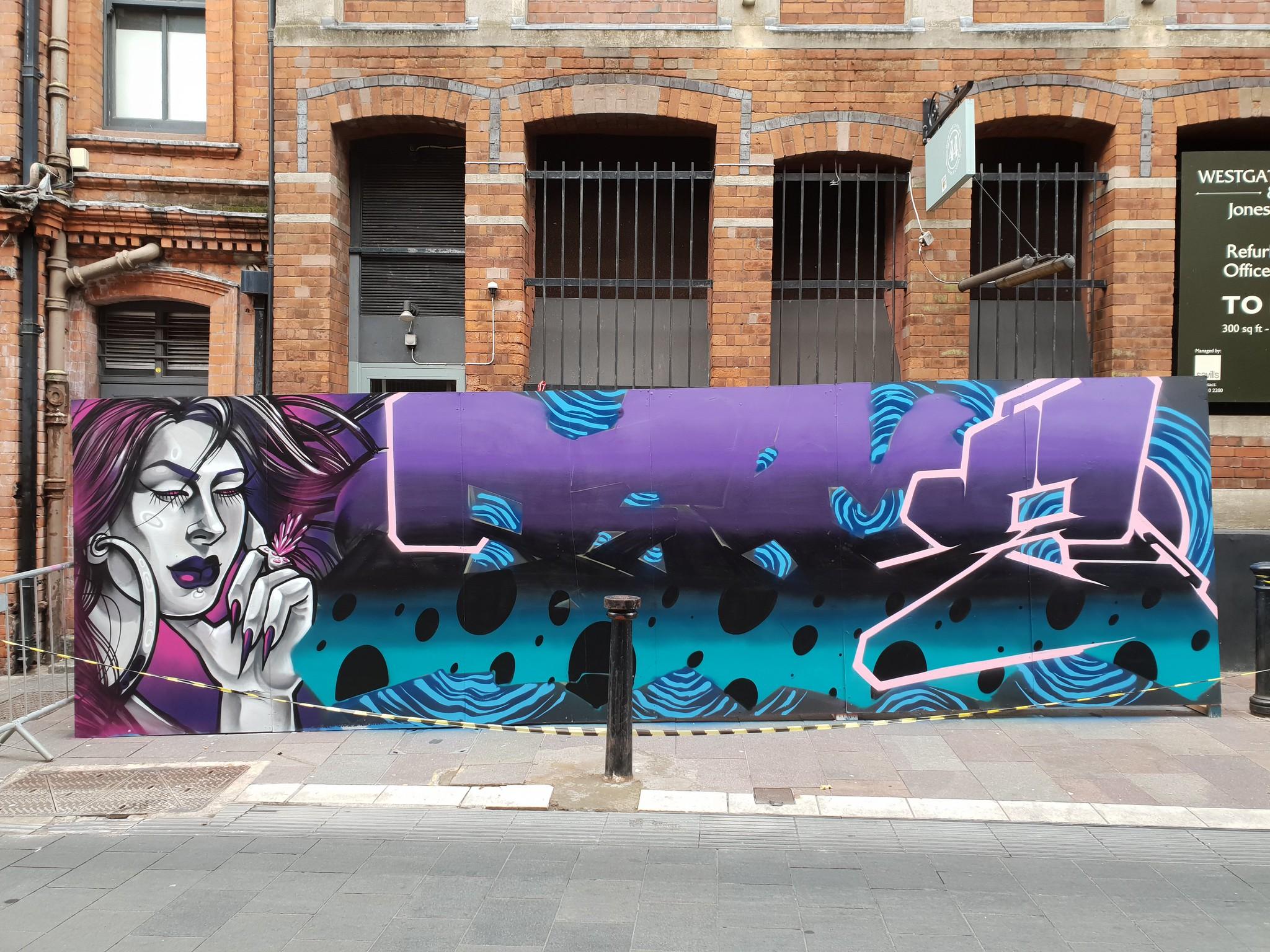 Hwb Pride street art, Cardiff