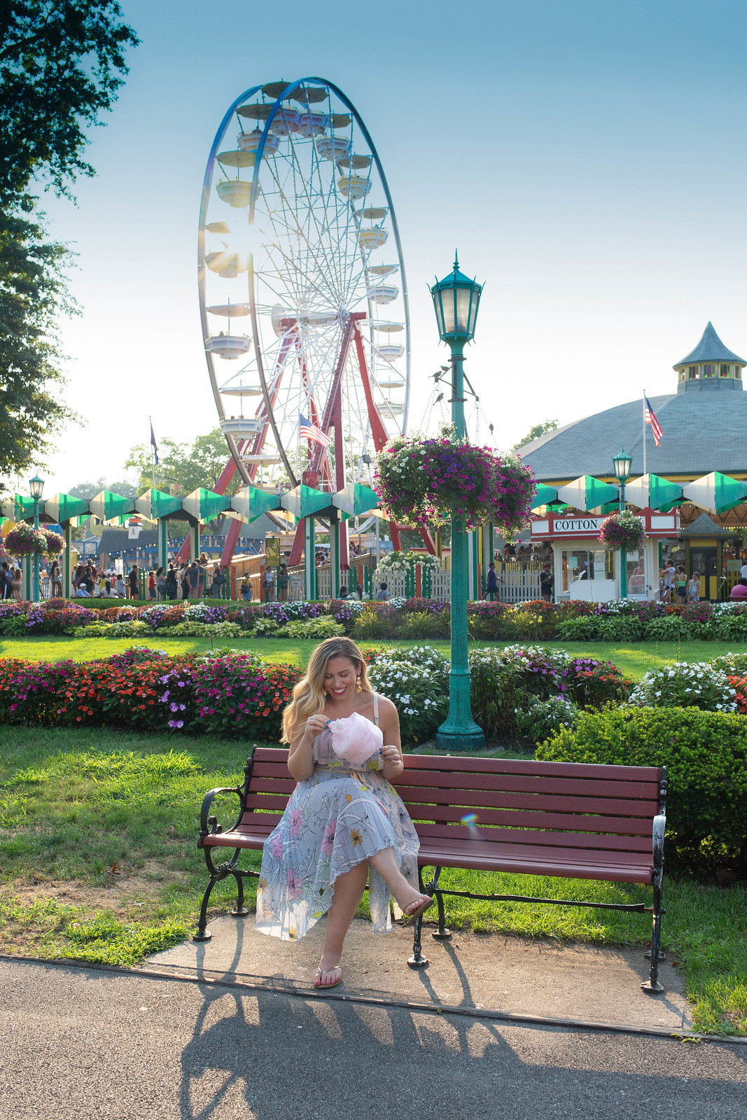 Topshop Pastel Pleated Midi Dress Nordstrom Westchester Playland Park Amusement Park Rye NY Ferris Wheel Cotton Candy Currently Obsessed with Pleated Dresses