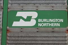 Burlington Northern logo from an autorack
