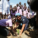 UNMISS police officers celebrate International Day of the Girl Child at school in Juba