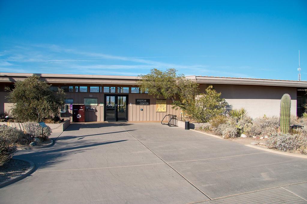 Visitor Center at Saguaro National Park Cactus Forest Drive