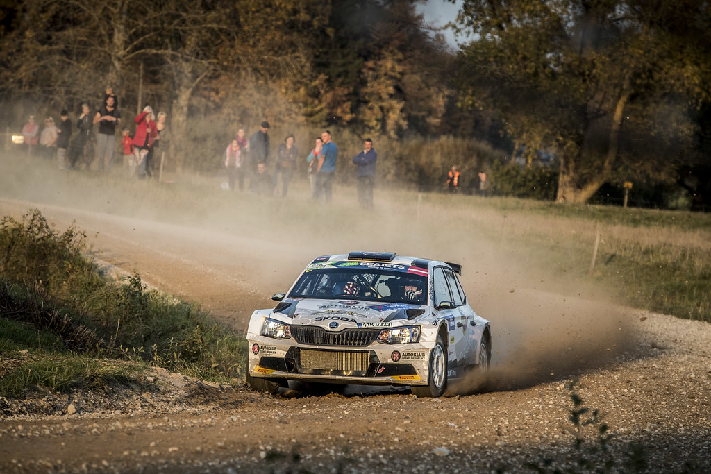 09 MARES Filip, (CZE), Jan HLOUSEK, (CZE), ACCR Czech Rally Team, Skoda Fabia R5, Action during the 2018 European Rally Championship ERC Liepaja rally,  from october 12 to 14, at Liepaja, Lettonie - Photo Gregory Lenormand / DPPI