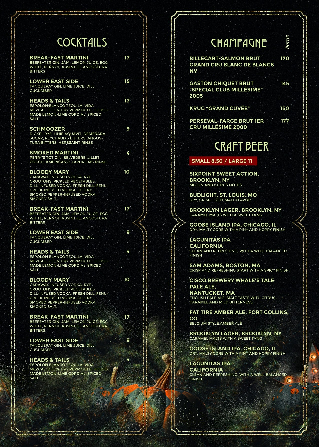 Halloween Menu – restaurant menu in PSD for Halloween