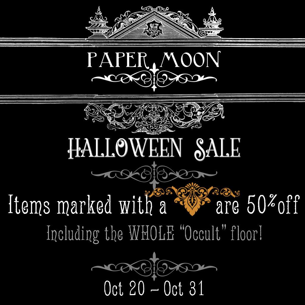 *paper moon* Halloween Sale 2018