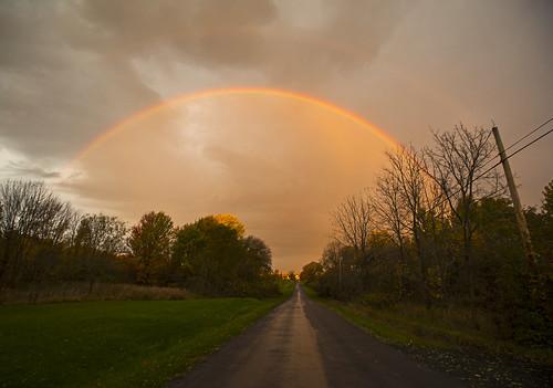 rainbow october halloween morning sunrise life skaneateles autumn fall foliage canon 2018 goodmorning nature landscape peaceful quiet calm tranquil hope