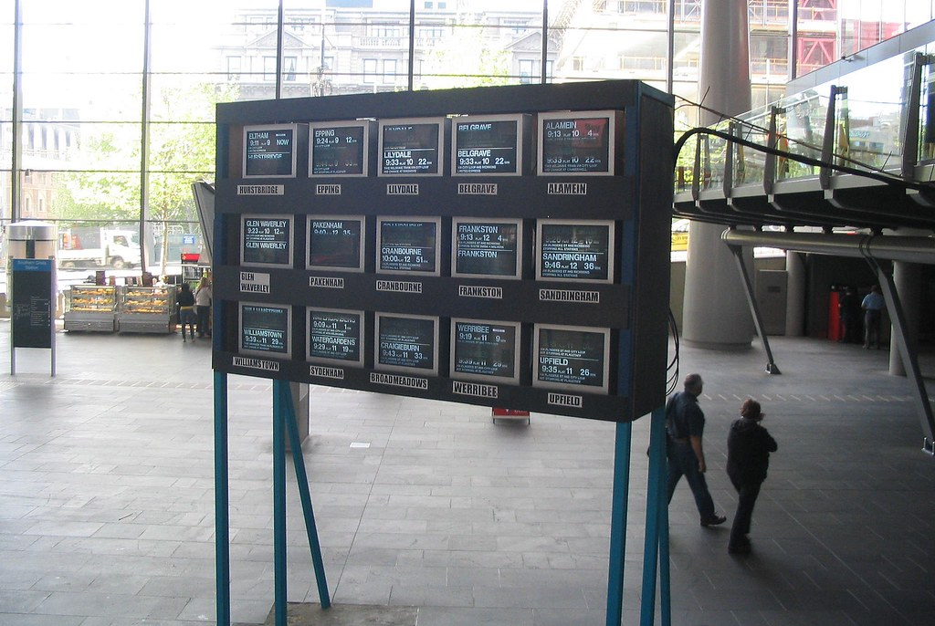 Southern Cross Station - temporary screens, October 2008