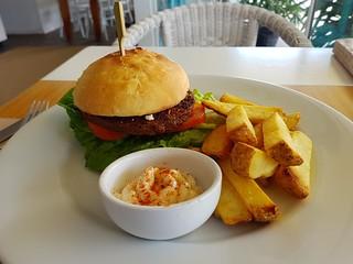 Artisan Vegan Burger at Two Tables Cafe