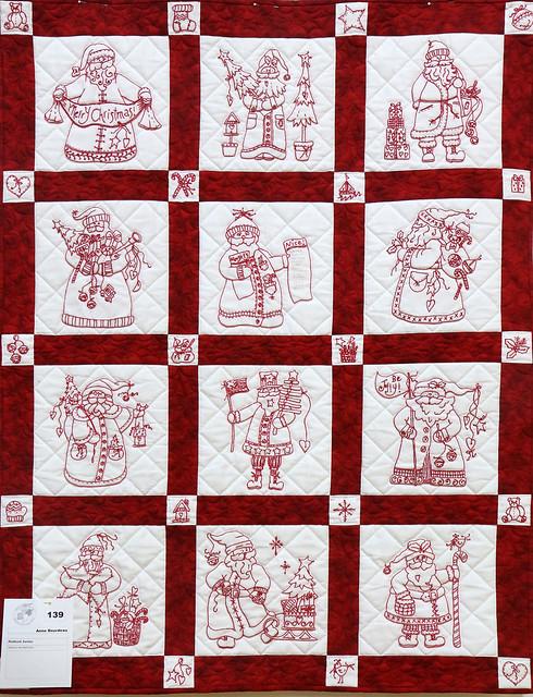 139: Redwork Santas - Anne Bourdeau