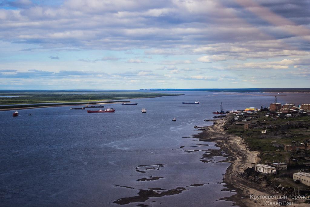 Хатанга - вид на порт