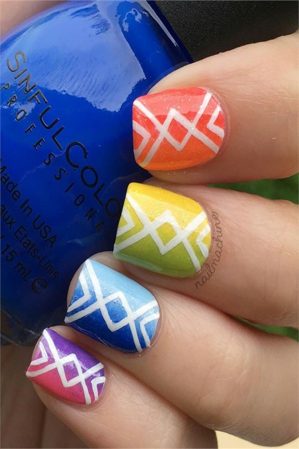 rainbow nails - top gallery#rainbow_nails #nail_art_ideas #nail_designs #manicure
