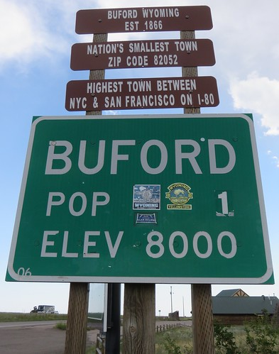 Buford City Limit Sign (Buford, Wyoming)