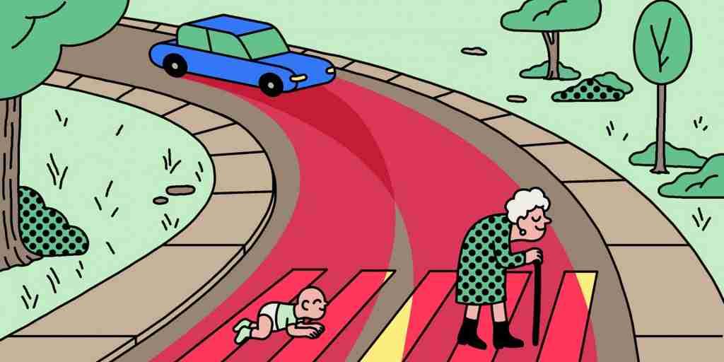 Une voiture autonome devrait-elle tuer l'enfant ou la grand-mère?