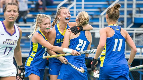 Delaware storms over JMU in CAA Field Hockey Semifinals