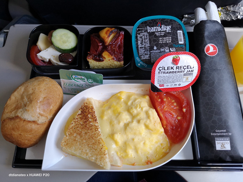 2018 Turkish Airlines Zagreb to Istanbul In-Flight Meal