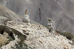 Shrines in the mountains of Ladakh
