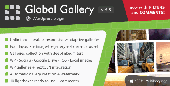 Global Gallery v6.41 - WordPress Responsive Gallery