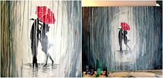 DIY beauty & Face masks  : How to Paint a Rainy Day Scene with Acrylics | Easy Wall Art . Paint a rainy day...
