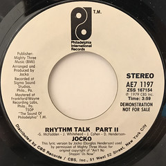 JOCKO:RHYTHM TALK(LABEL SIDE-B)