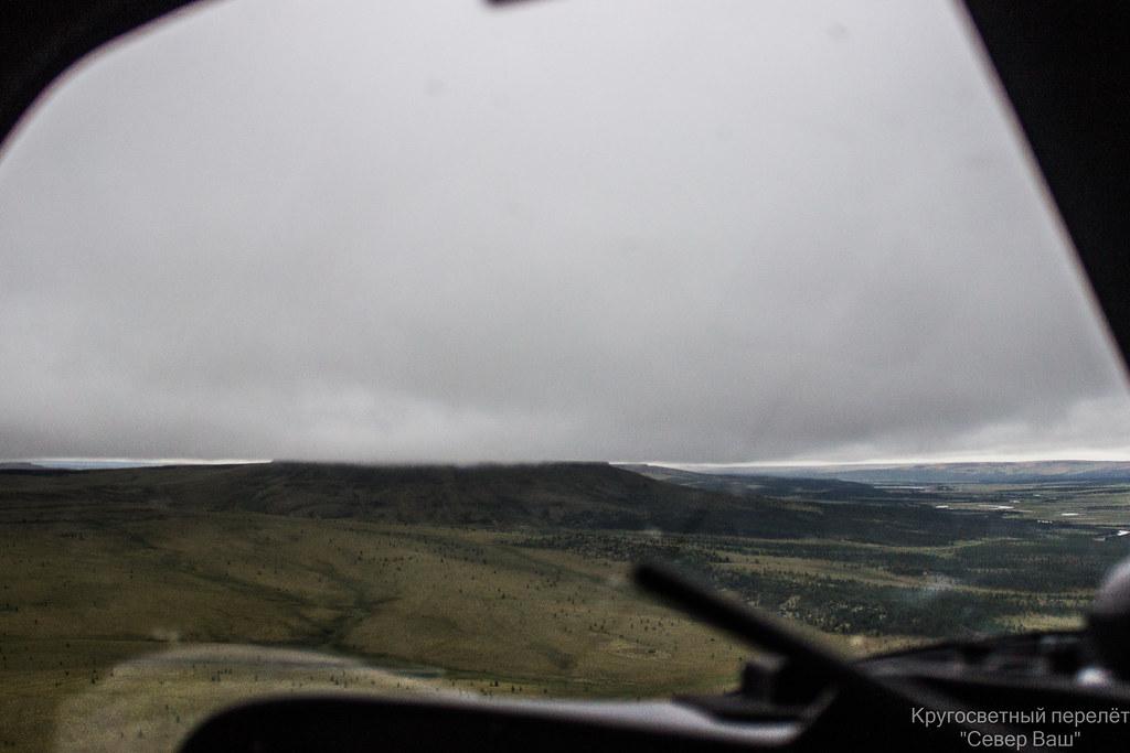 Облачность ложится на вершины гор
