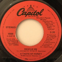 A TASTE OF HONEY:RESCUE ME(LABEL SIDE-A)