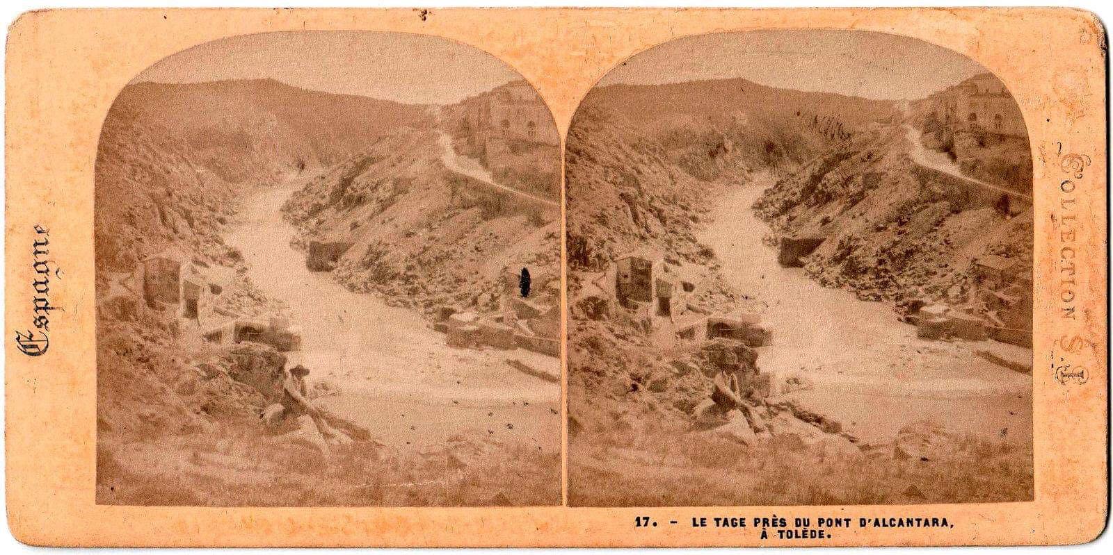 Foto estereoscópica del Torno del Tajo en 1863 por Ernest Lamy