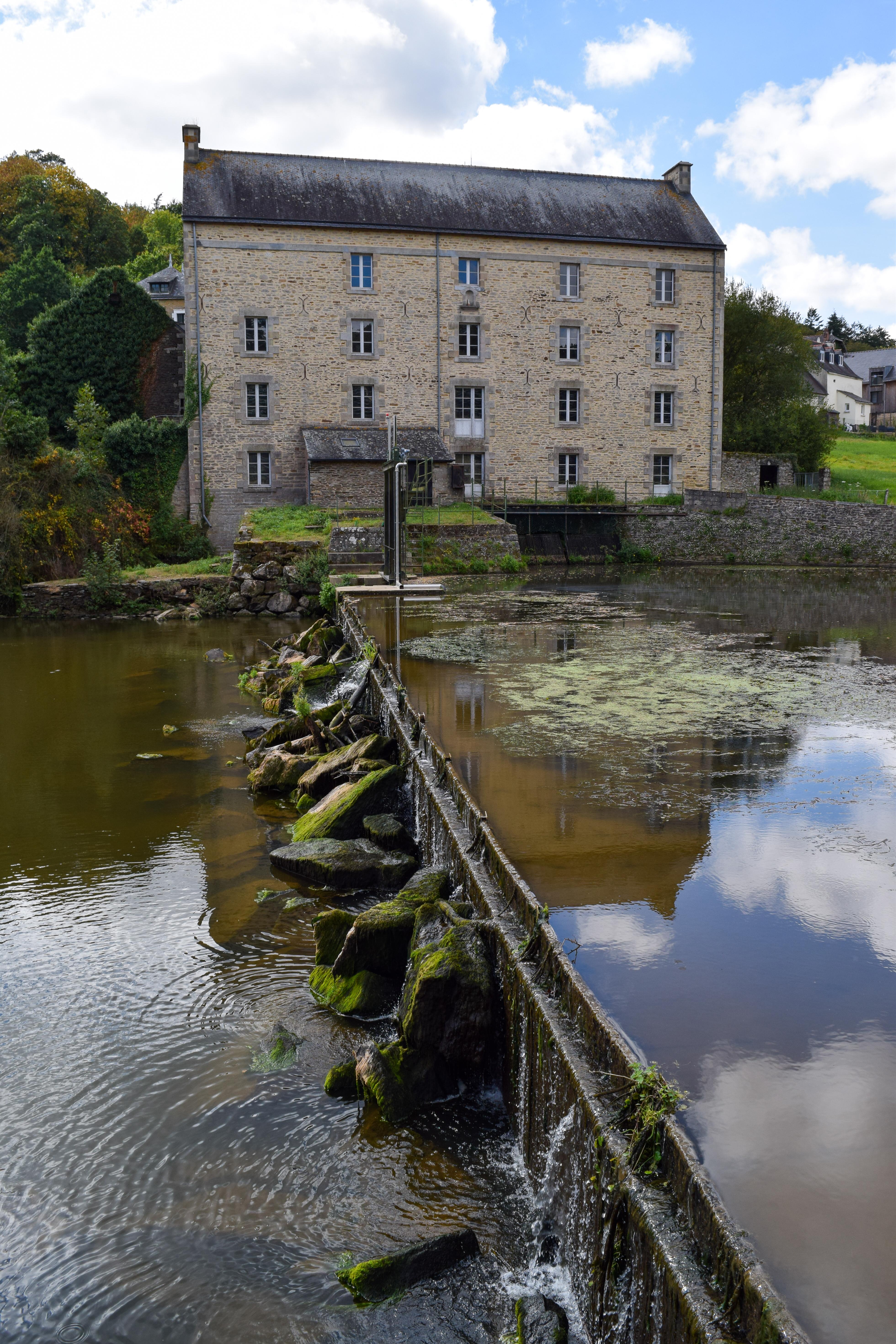 Canal in Josselin, Brittany