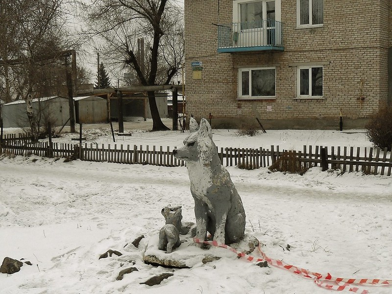 Алейск. Городская скульптура.