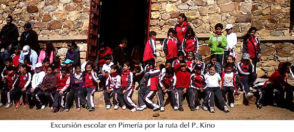 Excursión escolares por lugares del P. Kino