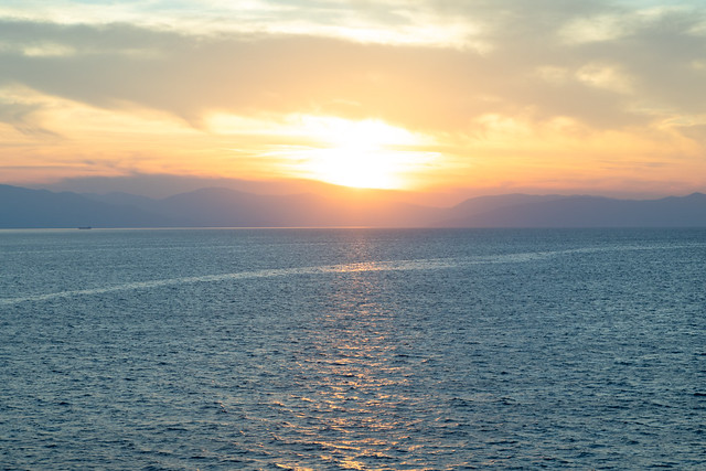 Sunset over Ithaca   Crossing the Ionian Sea-16