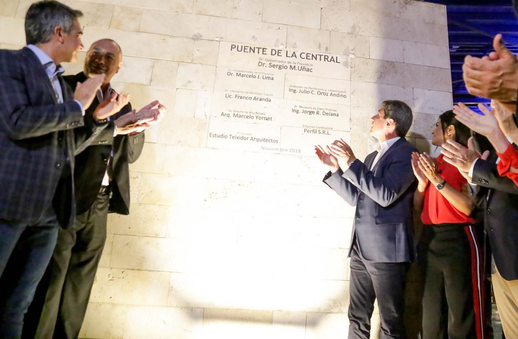 """2018-11-07 PRENSA: Acto de Inauguración del """"Puente de la Central – Centro Cívico – Plaza del Bicentenario"""""""